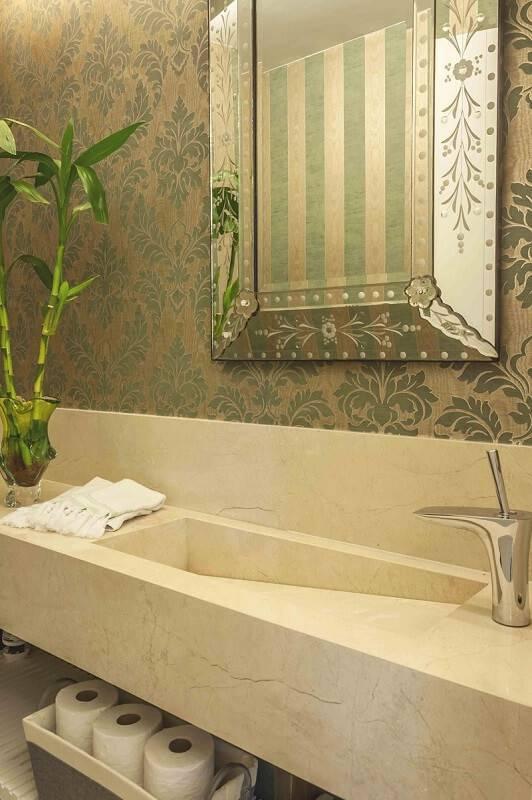 Papel de Parede no lavabo avne rposner 125423