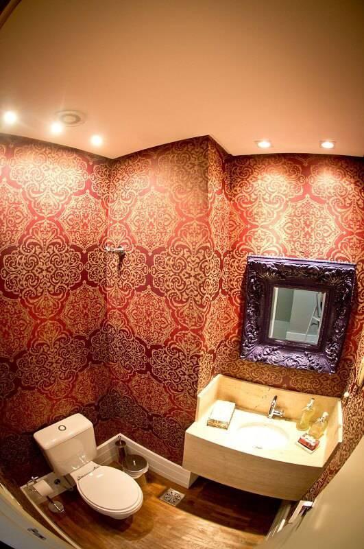 Papel de Parede no lavabo joana e manoela 88207