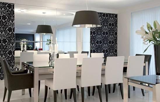 Papel de Parede sala de jantar paula zanello 27435