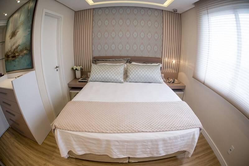 Papel de parede quarto de casal inova arquitetura 96944