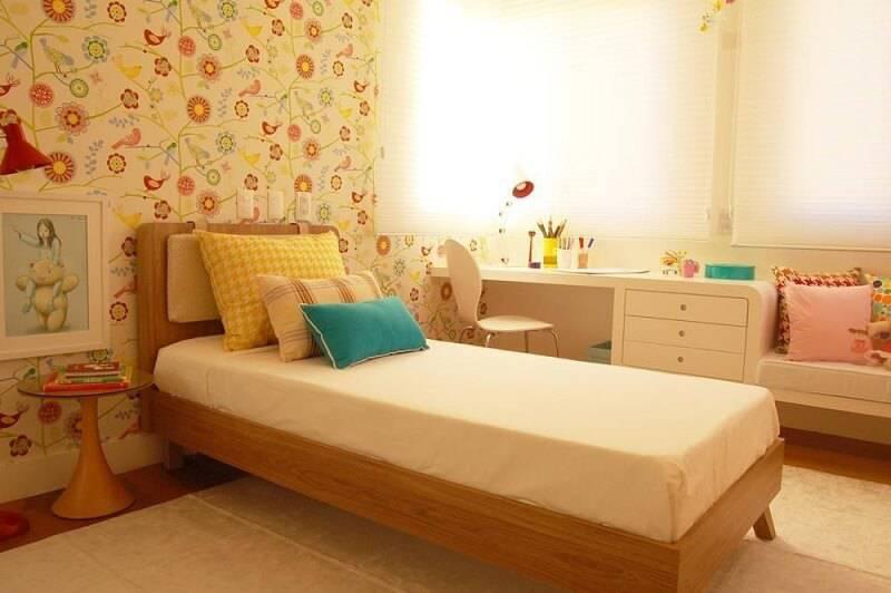 Papel de parede quarto de menina sandro clemes 7628