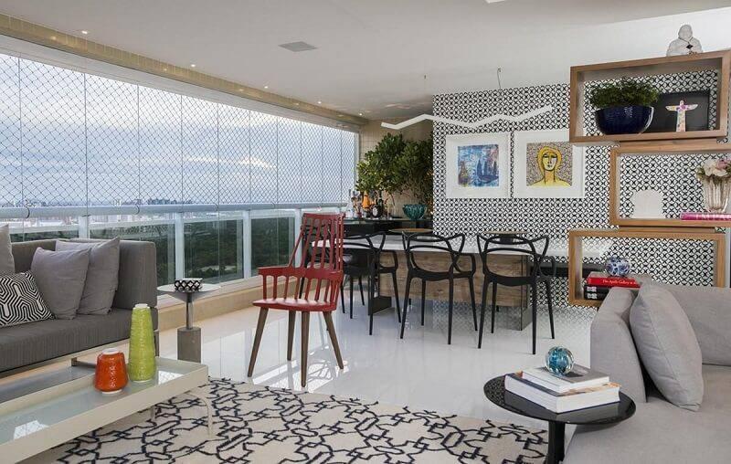 Papel de parede sala de estar rodrigo maia 62150