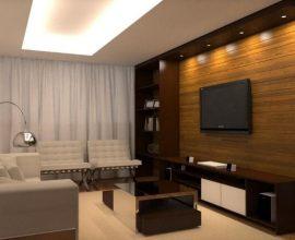 Sala de estar com sanca de gesso aberta Projeto de Only Design