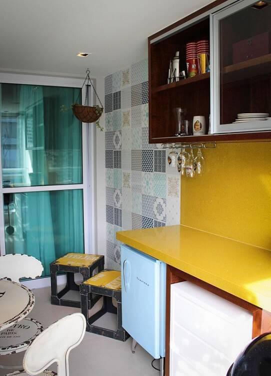 azulejo adesivo varanda gourmet studio due arquitetura 48763