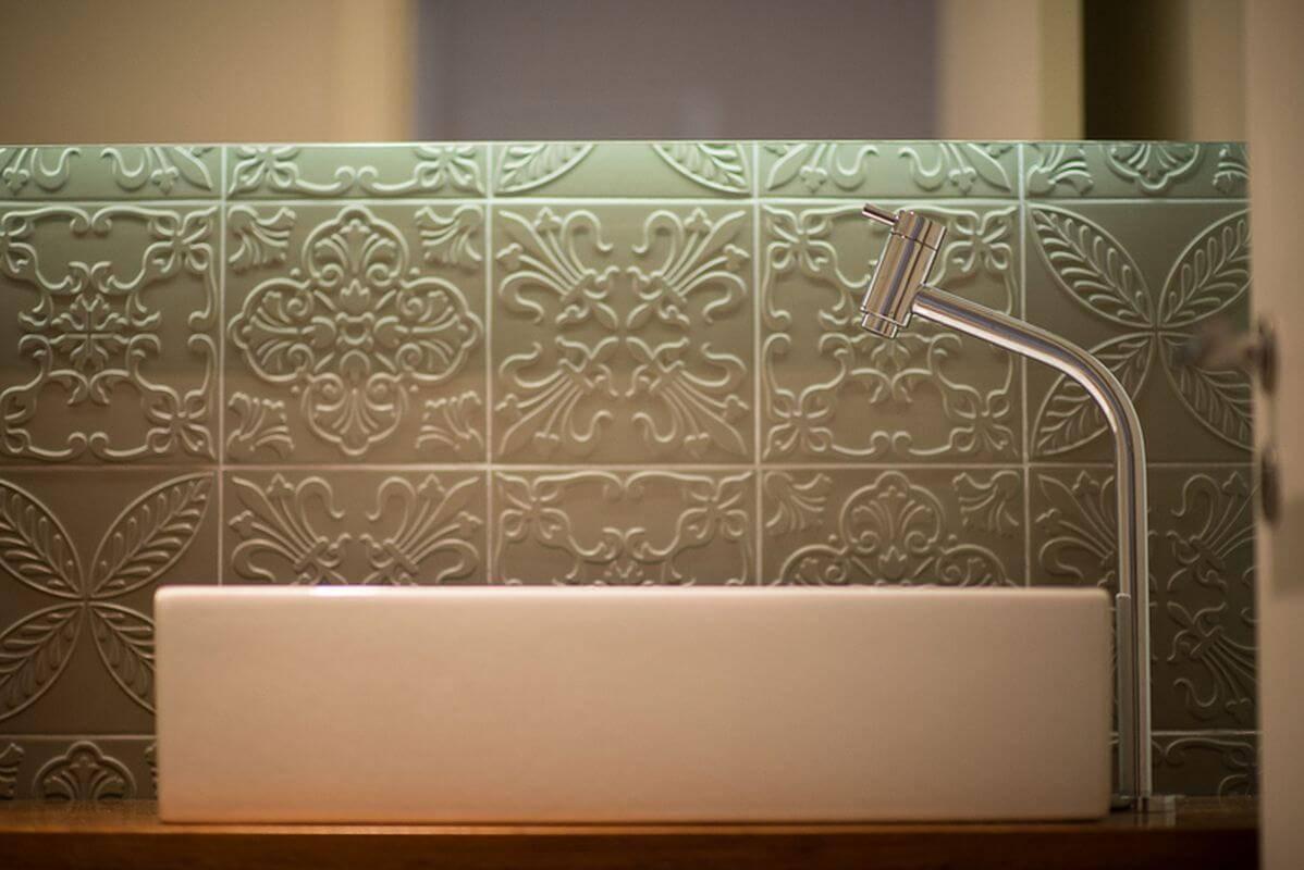 azulejo banheiro estampado verde ronaldo assim 137644