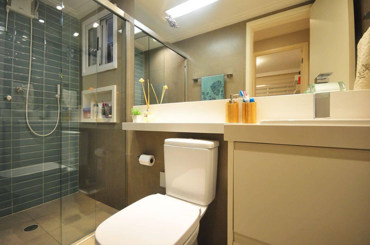 azulejo banheiro tijolinho verde condecorar 142393