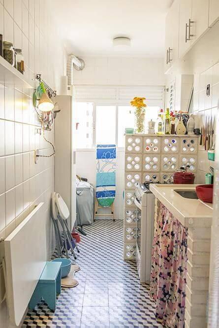 azulejo cozinha chão com padrão casa aberta 19595