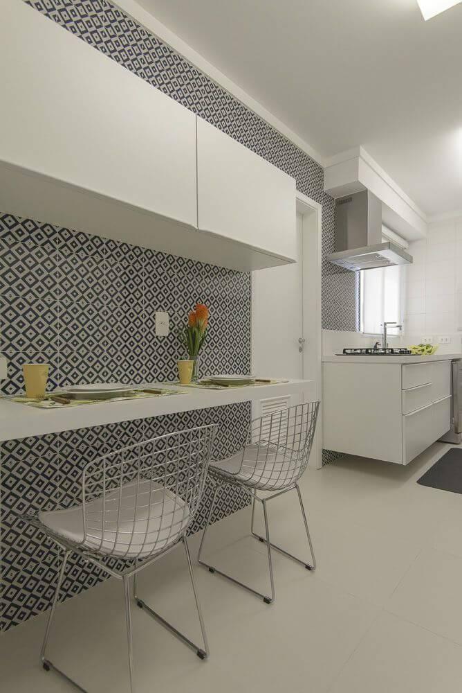 azulejo cozinha losangos preto e branco d2n arquitetura interiores 127464