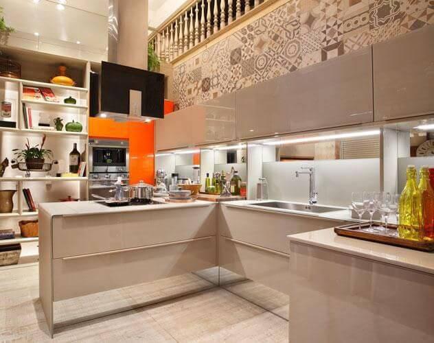 azulejo cozinha parede alta tons neutros lamego mancini 89216