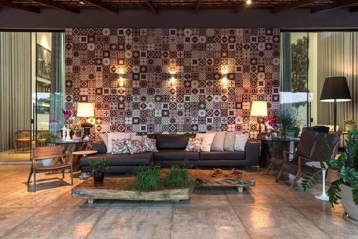 azulejo sala de estar preta e branca lf rezende 67808