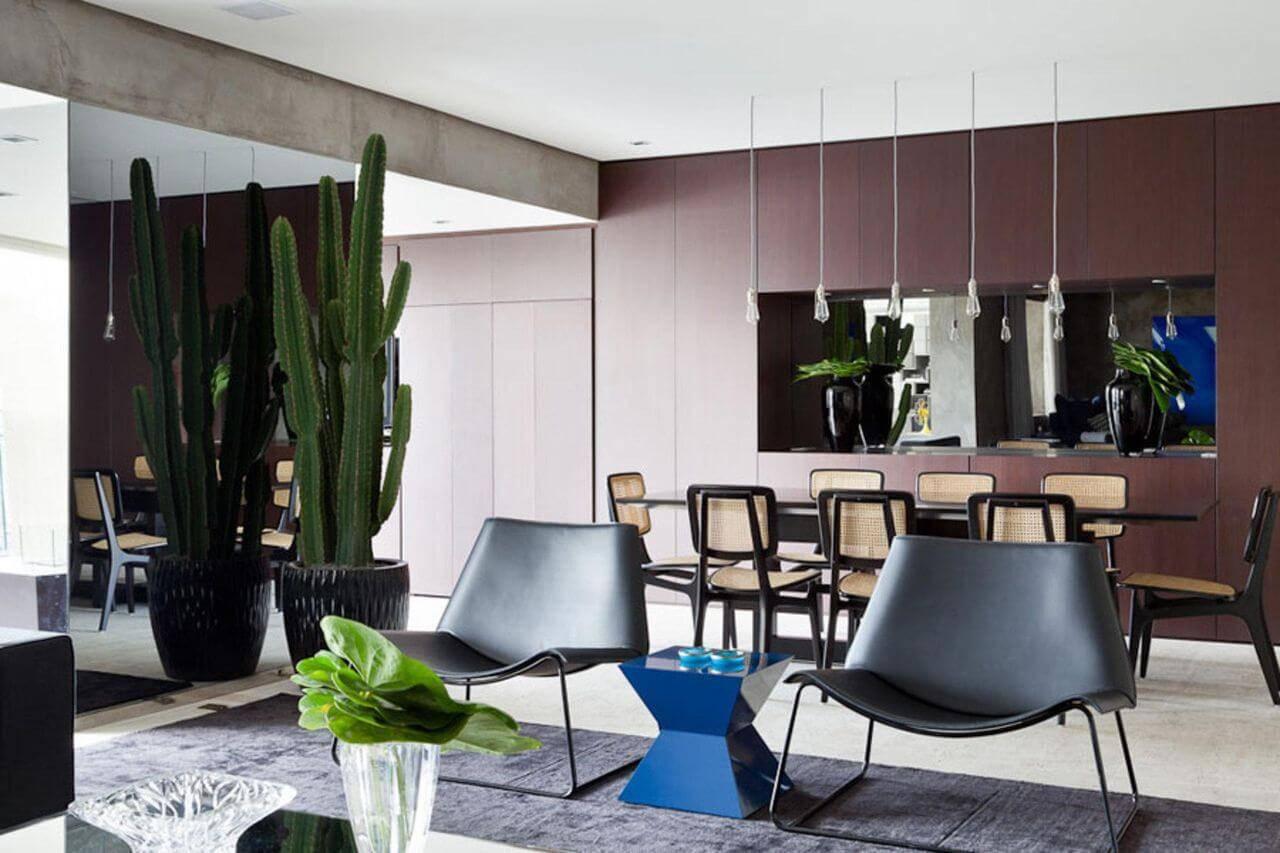 cacto em vaso sala de jantar suite arquitetos 23636