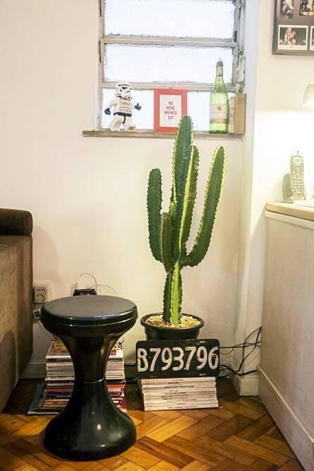 cacto na decoração cantinho revisteiro casa aberta 18500