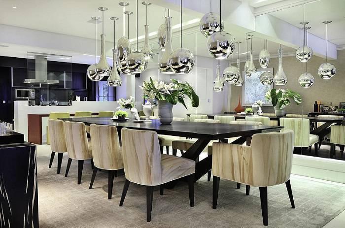 cadeiras sala de jantar poltrona madeira moreno interiores 65642