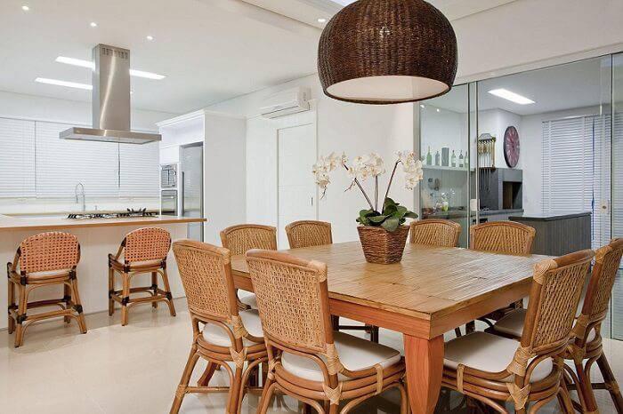 casa de praia cozinha e jantar madeiras priscila koch 38373