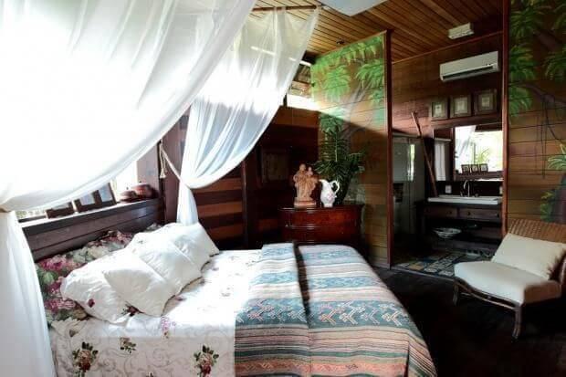 casa de praia quarto de casal madeira perlla et jr decor 8833