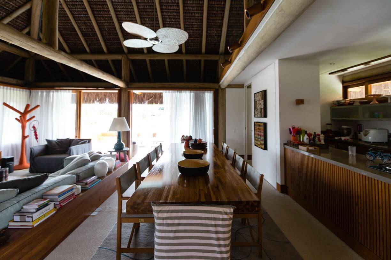 casa de praia sala de jantar teto natural amc arquitetura 90864