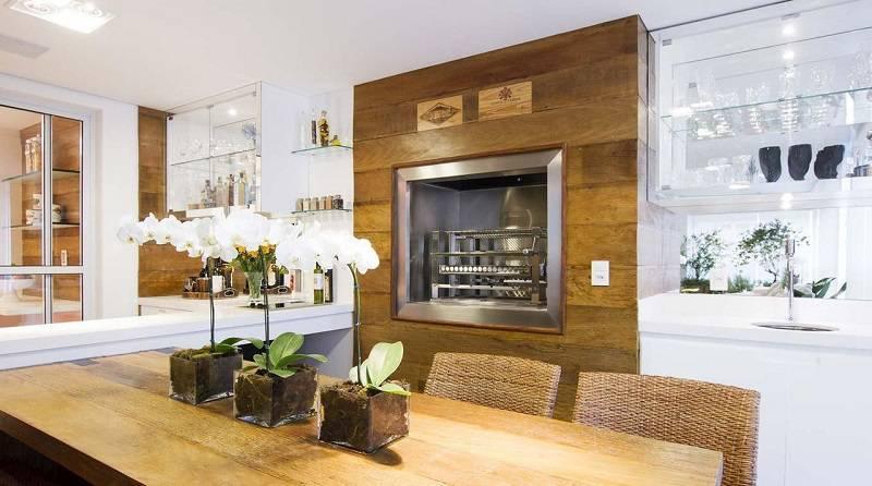 churrasqueira eletica madeira varanda gourmet cilene monteiro lupi 68329