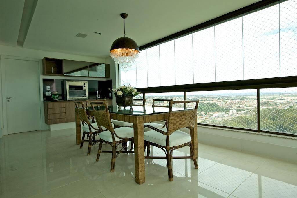 churrasqueira eletica varanda gourmet com mesa palha ludmilla coutinho 43513