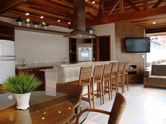 churrasqueira eletrica area gourmet com mesa bender arquitetura 31631