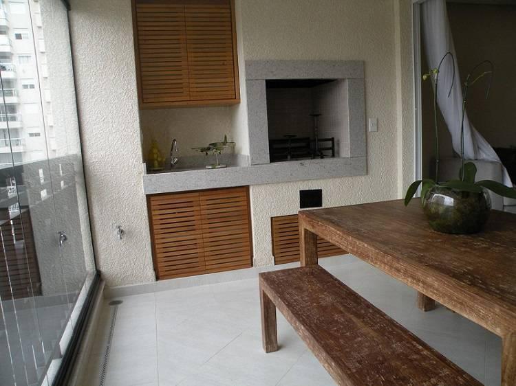 churrasqueira eletrica varanda gourmet rustica denise barbuy paes de almeida 40754