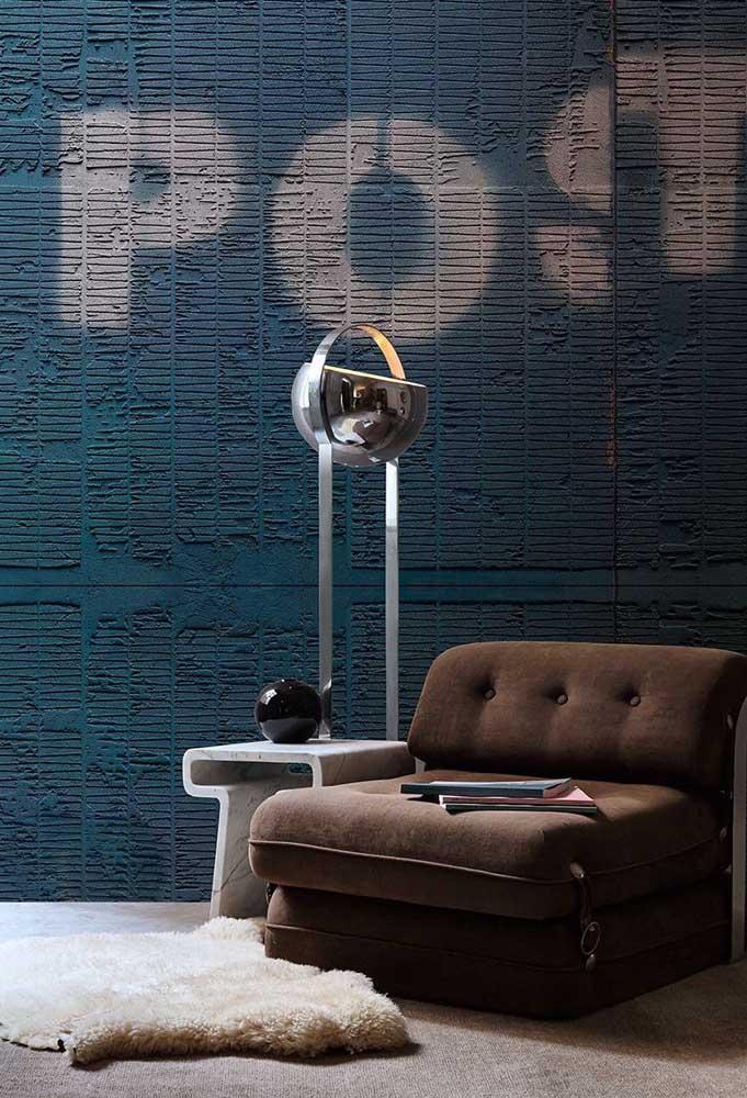 Como aplicar textura de parede azul