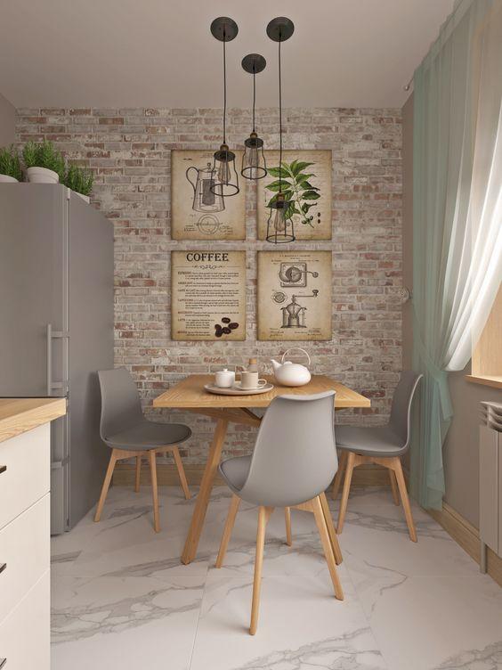 Como aplicar textura de parede na sala de jantar