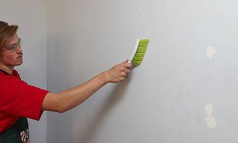 como aplicar textura limpar parede