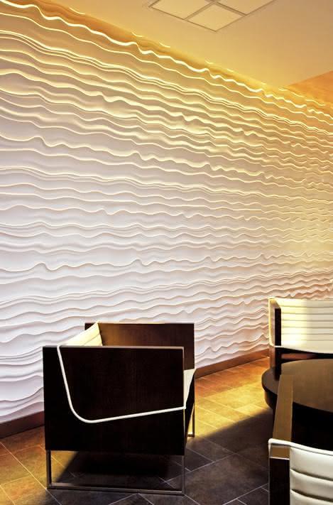 Como aplicar textura de parede da sala de estar