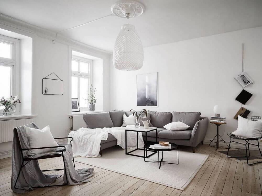 decoração escandinava com tons neutros