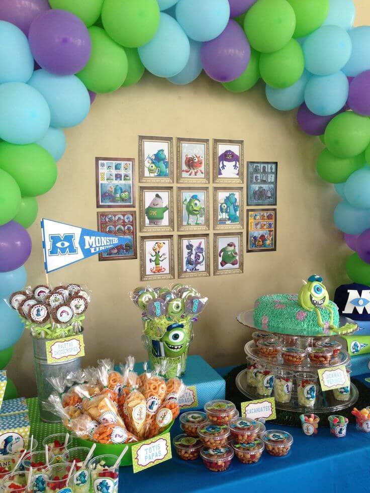 decoracao de festa infantil monstros