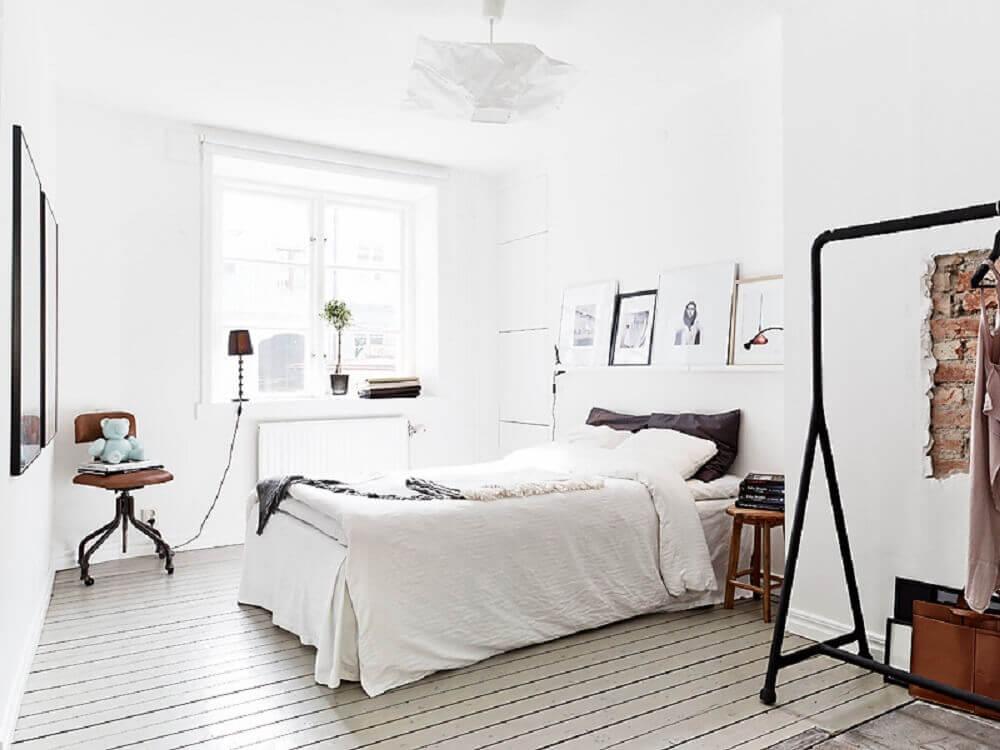 design escandinavo quarto com arara