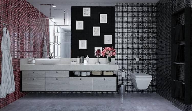 espelho para banheiro decorativo marel 1240