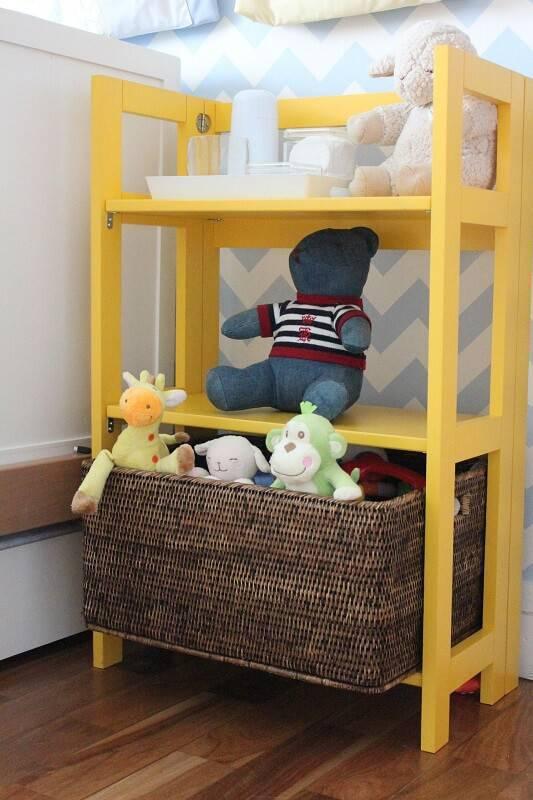 estante baixa colorida quarto de bebe codecorar 77692