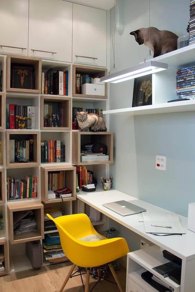 estante com nichos integrados home office an alucia adriano 88030