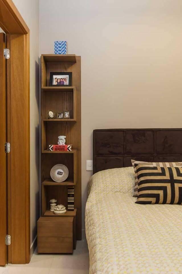 estante decorativa quarto de solteiro vinicius de mello 72434