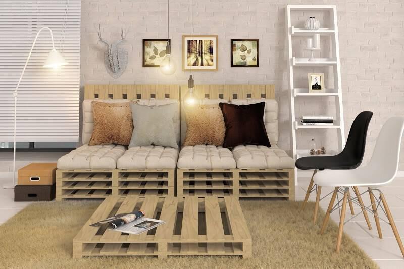 estante decorativa sala de estar escandinava leroy