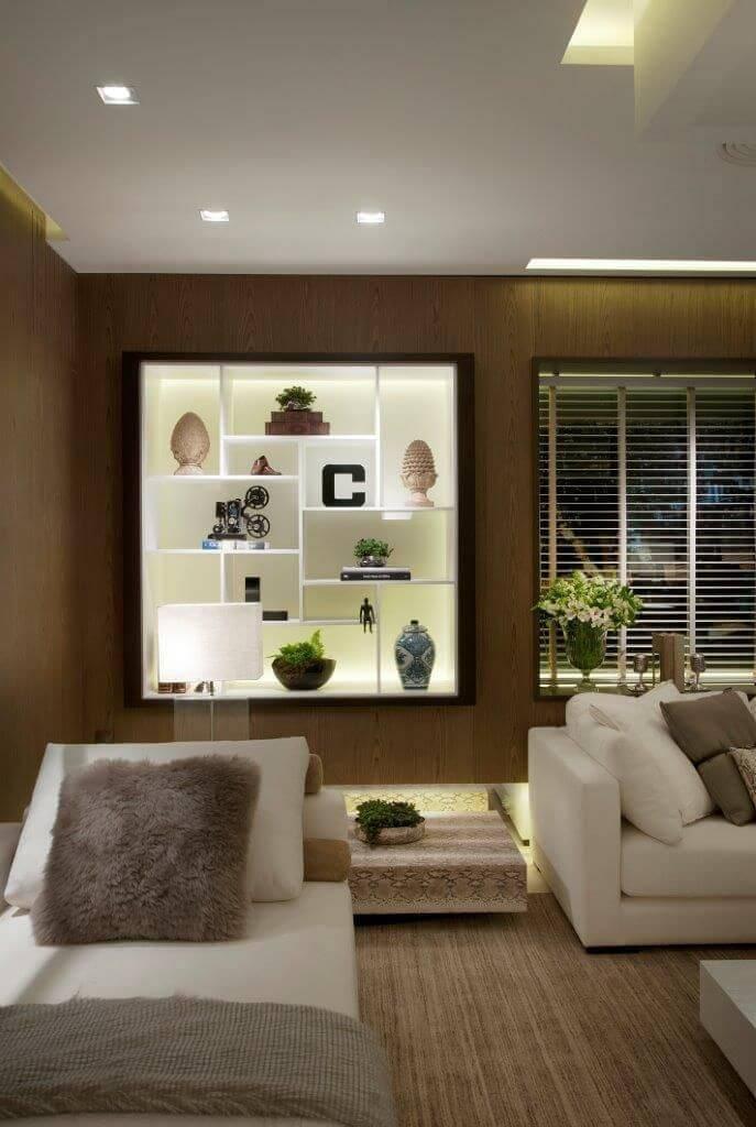 estante nichos suspensa sala de estar quitete faria 41934