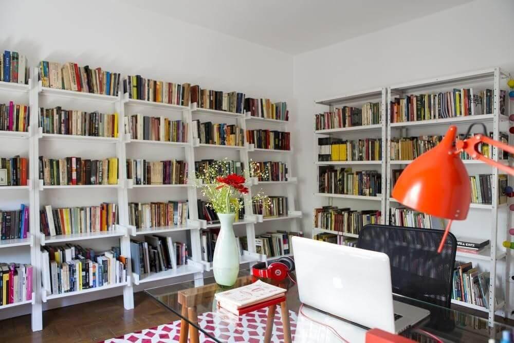 estantes de parede biblioteca home office buji 67103
