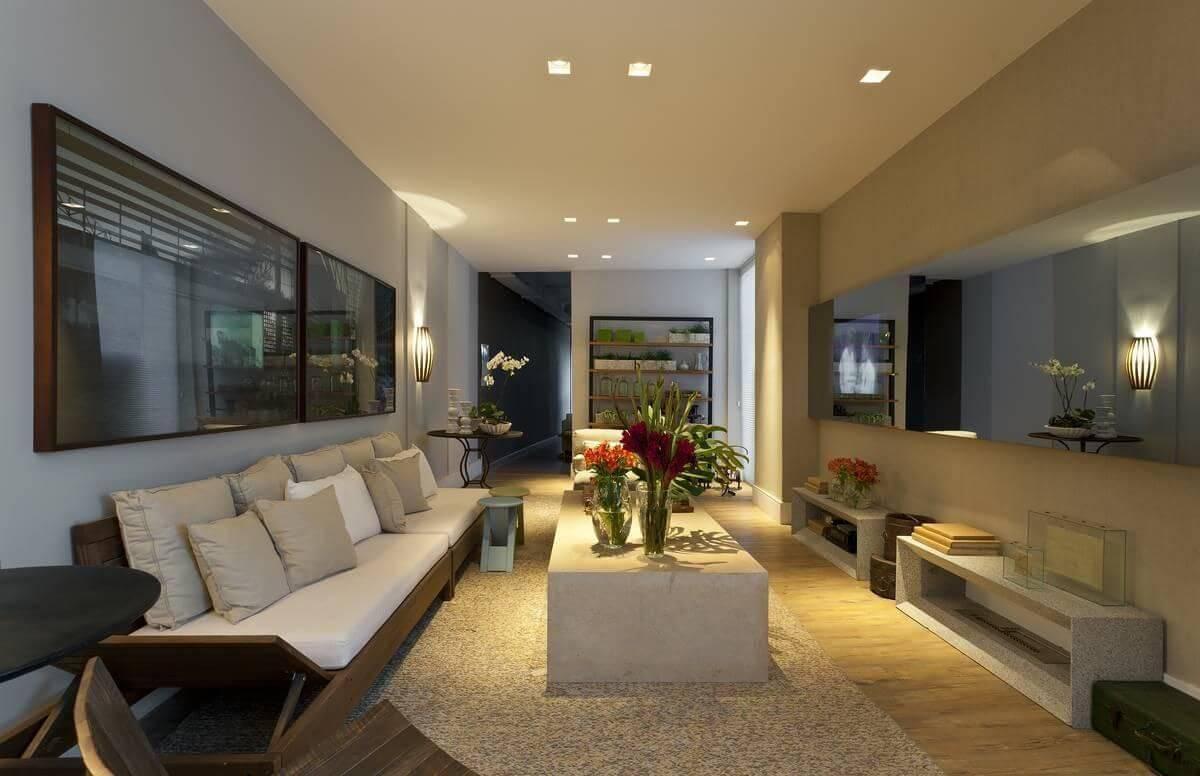 luminarias sala de estar arandela e painel de led renata basques 88674