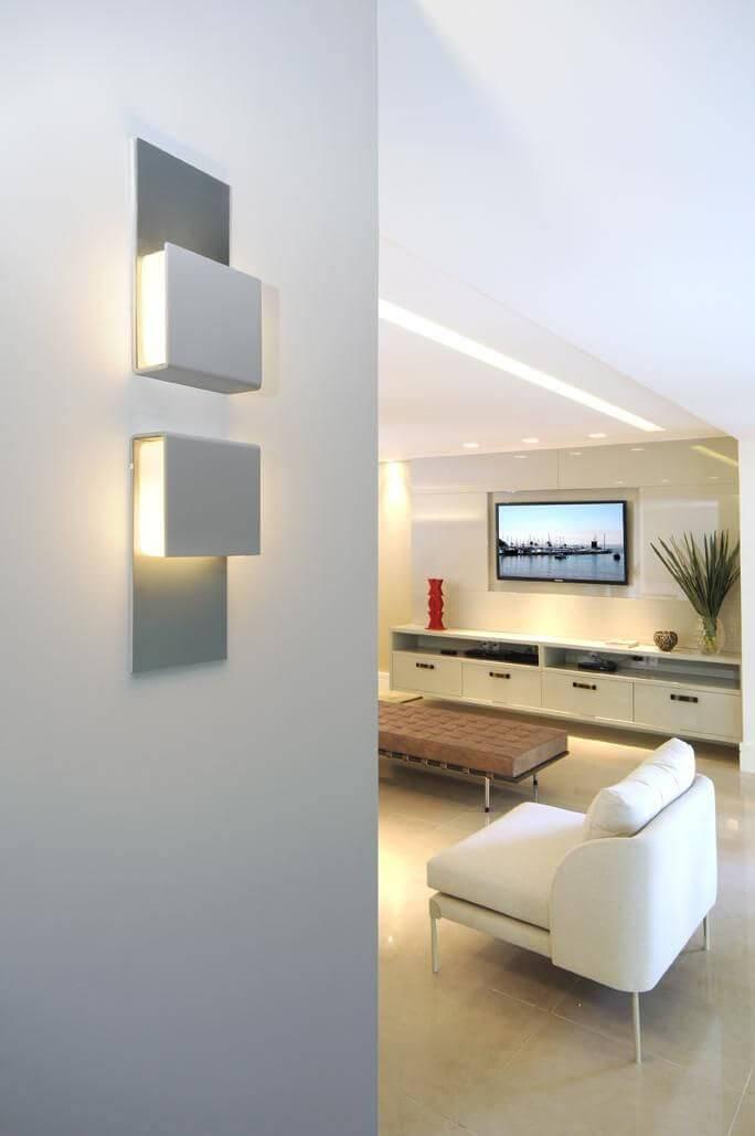 luminarias sala de estar arandela quadrada coutinho vilela 91803