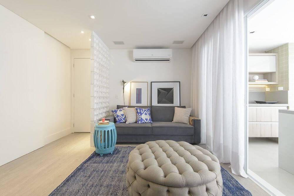 luminarias sala de estar painel de led embutido d2n arquitetura interiores 127456