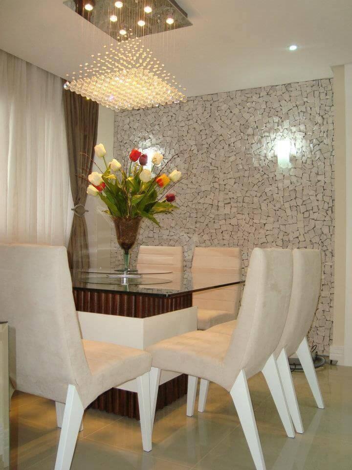 luminarias sala de jantar com plafon de cristal fernanda hoff 34553