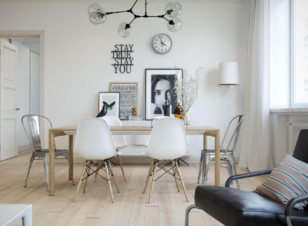 mix de móveis para decoração escandinava