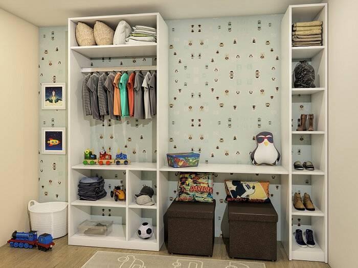 papel de parede infantil closet retrô