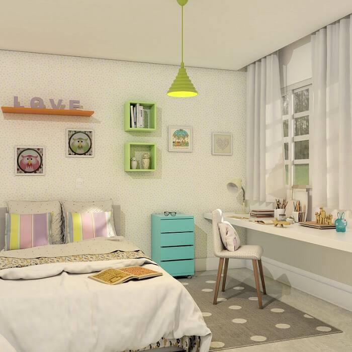 papel de parede infantil quarto de menina delicado