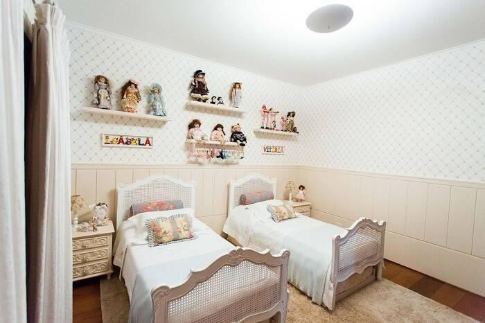 papel de parede infantil quarto de menina geometrico losango beatriz zamperlini 85637