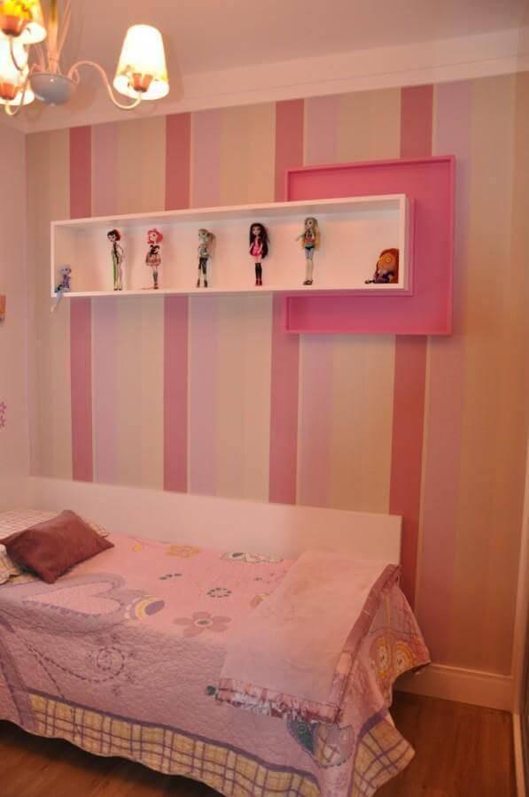 papel de parede infantil quarto de menina listras degrade rosa serravaz arquitetura 30799