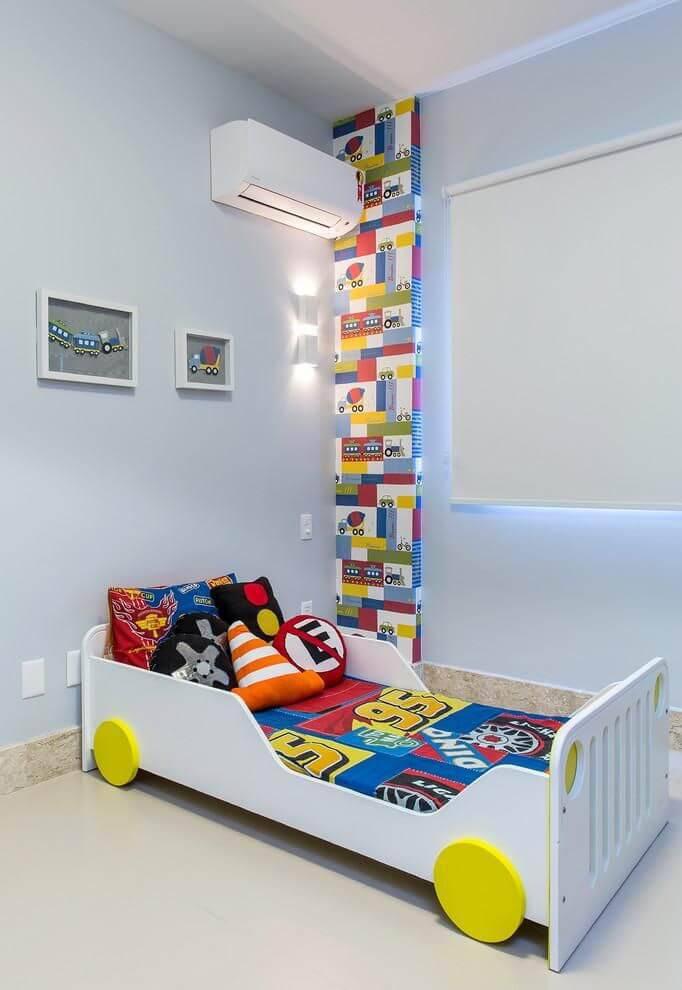 papel de parede infantil quarto de menino caminhao bruno sgrillo 88479