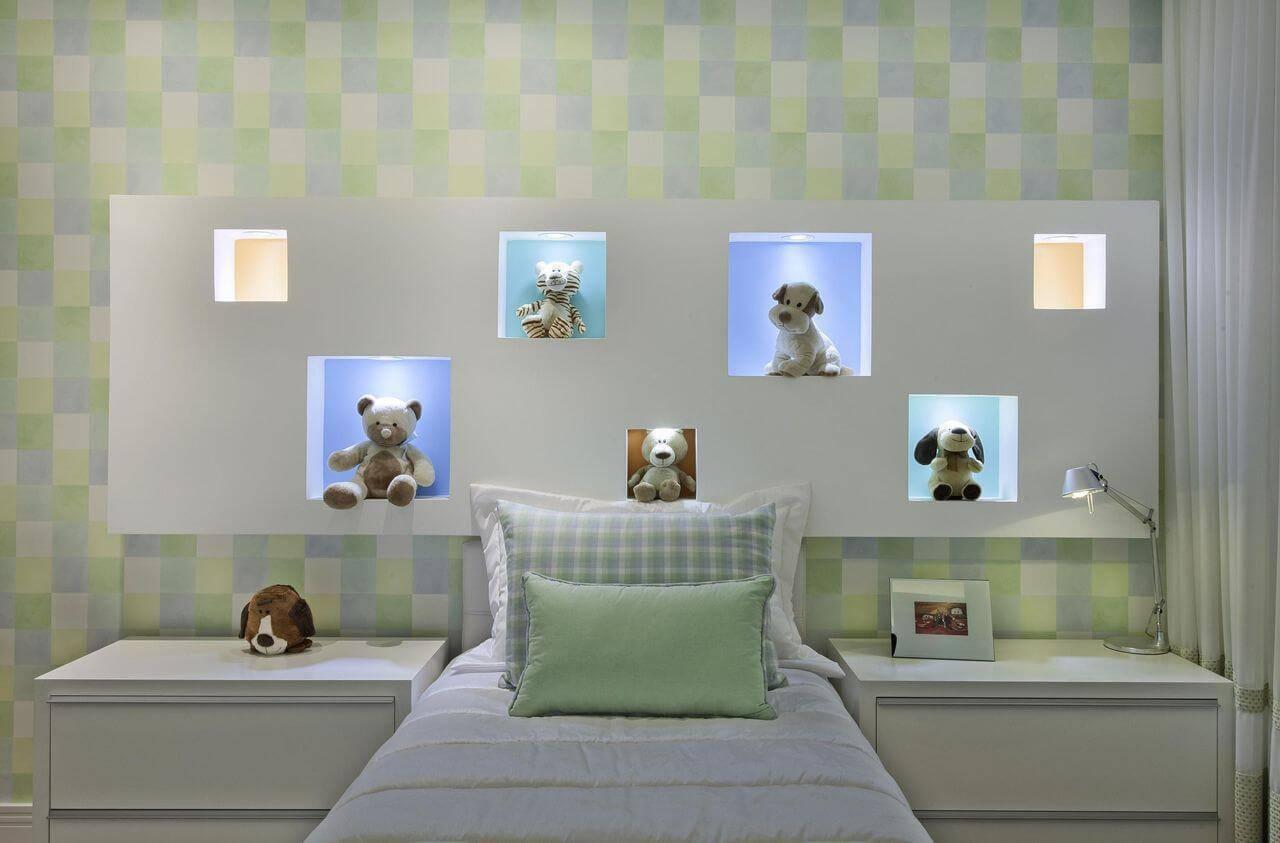papel de parede infantil quarto de menino geometrico bichos aquiles nicolas kilaris 69333