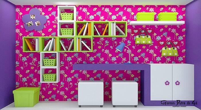 papel de parede infantil tematico flores